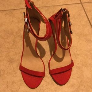 Zara red strappy heels